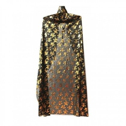 Halloween Skull Cape Shawl for Women Men Costume Party Accessories