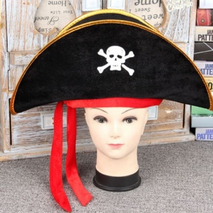 Halloween Pirate Captain Hat Costume Party Accessories