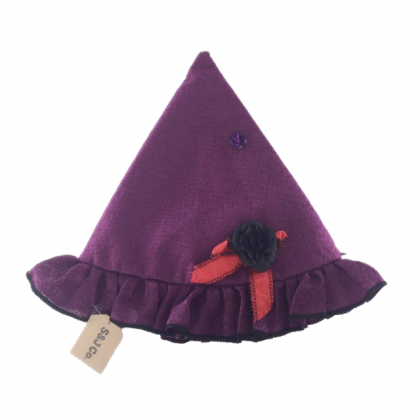 Halloween Purple Hat With Flower Costume Party Accessories