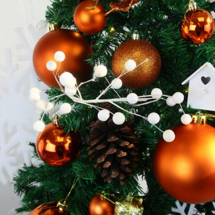 Christmas Package: Woody Forest 120cm 250T Green X'mas Tree