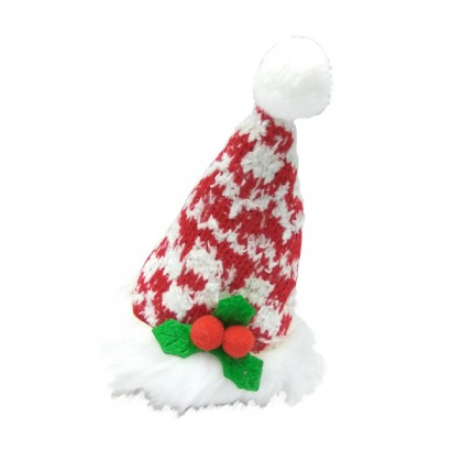 X'mas Hair Red & White Clip Hair Accessories For Girls Kids on Christmas