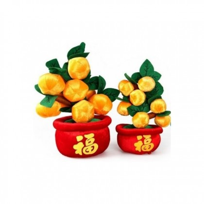 Chinese New Year CNY Plush Toy Lucky Oranges Tree With Knot