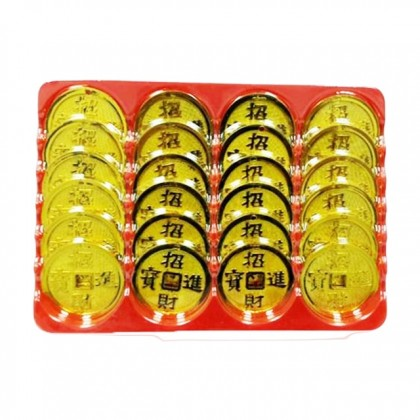 Chinese New Year CNY Lucky Gold Chinese Coins 24pcs