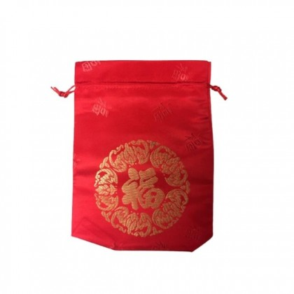 Chinese New Year CNY 'fu' Drawstring Gourd Small Lucky Bag