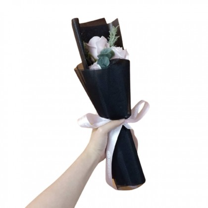 S&J Co. Soap Flower Roses Scented Bouquet with Long Gift Box
