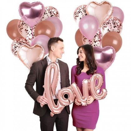 Love Letter Foil Balloon 42 Inches for Birthday Wedding Party Decorations