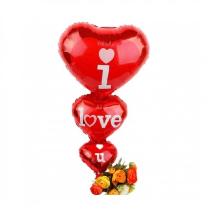 3 layers Love Shape I LOVE YOU Foil Balloon for Birthday Wedding Party Decorations