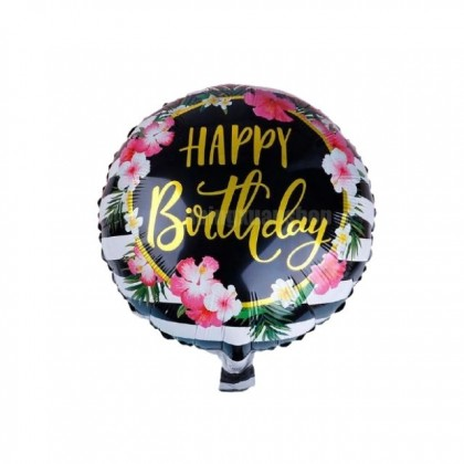 18 Inches Round Happy Birthday Foil Balloons Birthday Inflatable Party Decor