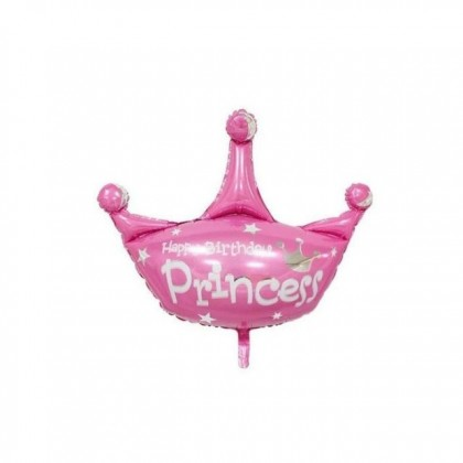 29 Inches Happy Birthday Prince Blue Crown Foil Balloon 29inch Party Decor