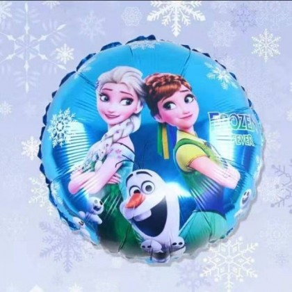 18 Inches Round Frozen theme Anna and Elsa Princess Birthday Party Decoration Foil Balloon
