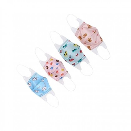 3D Cartoon Printed Disposable Earloop Masks Non-woven Fabric Mouth Covers for All Kids (Random Design)