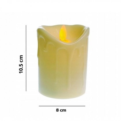 1pcs Lighting Candle Tealight Real Wax Flickering Flame less LED Candles Light