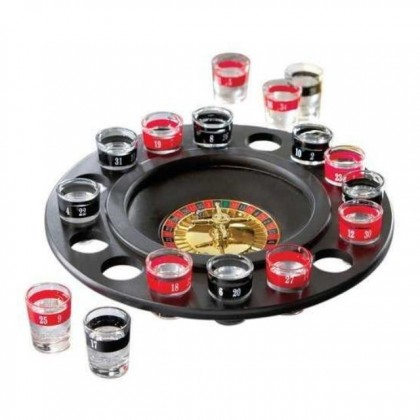 Roulette Drinking Shot Game with Casino Spin Shot Glass Party