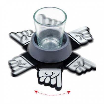 Shot Thumb Spinner Drinking Game Adult Alcohol Party Night