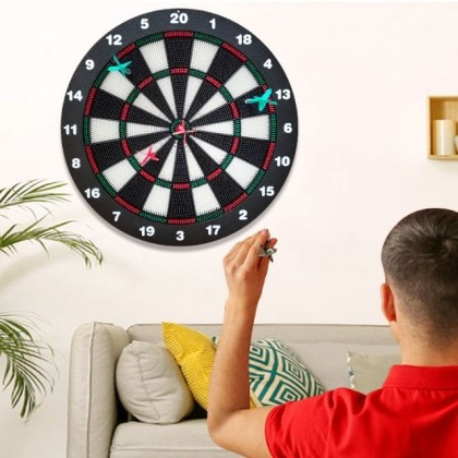 Dart Board Game Set FREE 4 Darts for Children Adults, Office and Family Time