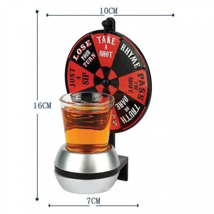 Wheel Shot Glass Spin The Shot Glass Drinking Turntable Game Toys