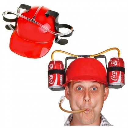 Drinking Helmet Hat Creative Funny Game for Party Beer Pong