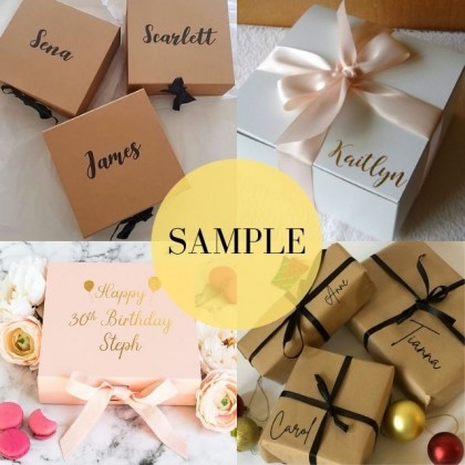 RAYA SALE: FREE Customize Gift Box For Him/Her Name Stay Home Stay Safe Caring Gift