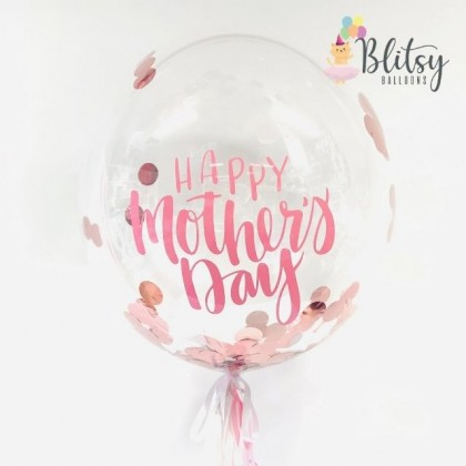 "20'' / 36"" Customized Transparent Bubble Balloon with Confetti"
