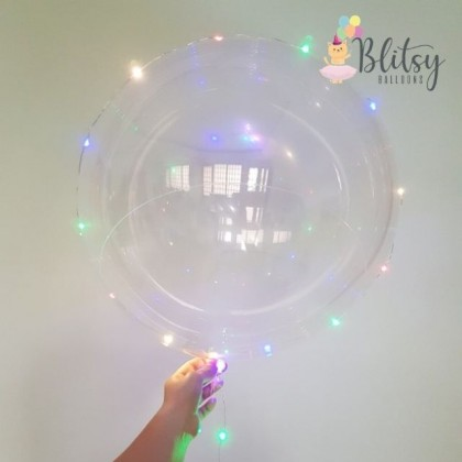 "1pcs 20'' / 36"" Transparent Bubble Balloon with LED Lights"