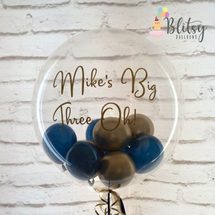 "36"" Customized Transparent Bubble Balloon with Mini Latex Balloons"