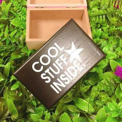 Touchwood Multipurpose Positive Quotes Wooden Box Jewelry Box Storage Box Gift