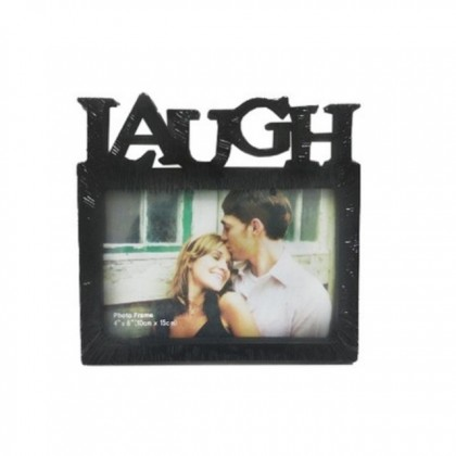 4R Black Photo Frame Home Decor Text Character Live Laugh Love