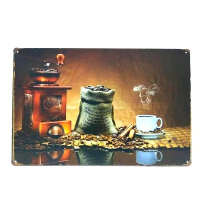 Vintage Metal Plate 20x30cm Deco Art Tin Plate Wall Deco for Home Cafe Bar