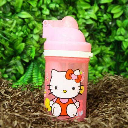 Hello Kitty Drinking Bottle with Straw Girls Beverage Container Door Gift