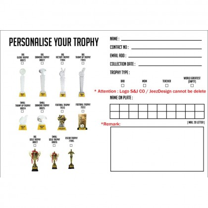 Small Football  Cup Trophy With Regular Pillar / Personalized Customize
