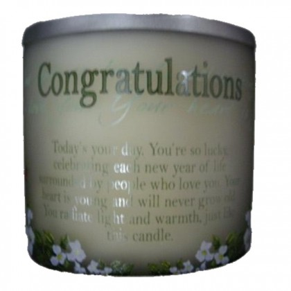 Congratulation Homemade Scented Candle