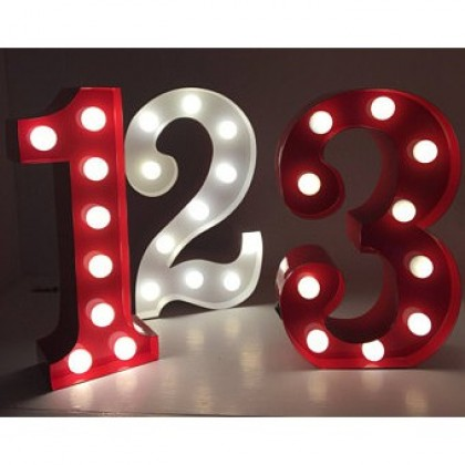 Alphabet Marquee Light Number 2 - Red