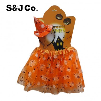 Stylish Halloween Decor Costume/Cosplay/Props Party Girls Orange Witch Hat