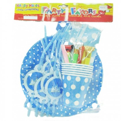 Party Set For 6 Pax - Tableware for Birthday Wedding Party Kids Themed Birthday Children