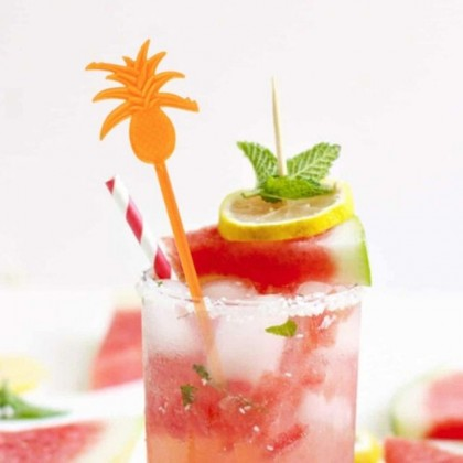 Colorful Drinks Cocktail Party Bar Stirrers Swizzle Stick Pineapple & Coconut Trees (8 Pcs/set)