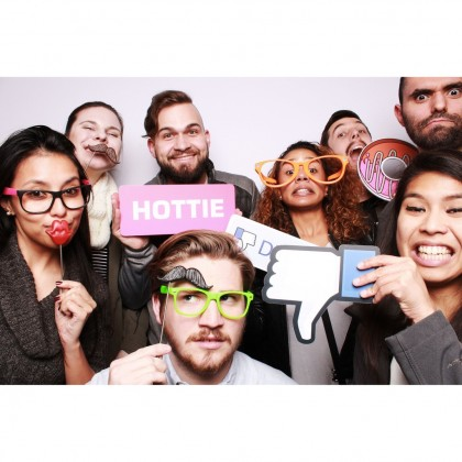 """S&J Co. Giant Photo Props Wood Thumbs-Up Birthday Party Decoration Wedding Event Photo Booth """"Like"""" Emoji on a Stick"""