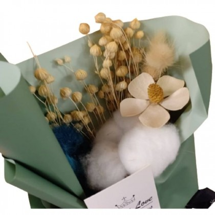 S&J Co. Soap Flower Roses with Cotton Bouquet with Gift Box