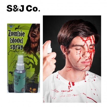 Red Liquid Zombie Blood Spray Make-Up Halloween Skin Body