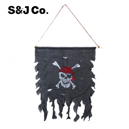 Retro Natural Wild Style Decoration Hanging Caribbean Pirate Flag