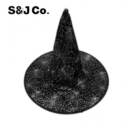 Halloween Props / Decoration / Witch Hat With Spider Web Pattern