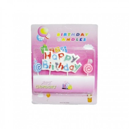 Happy Birthday Candle Colorful Party Decoration for Cake Candle Letter Alphabet