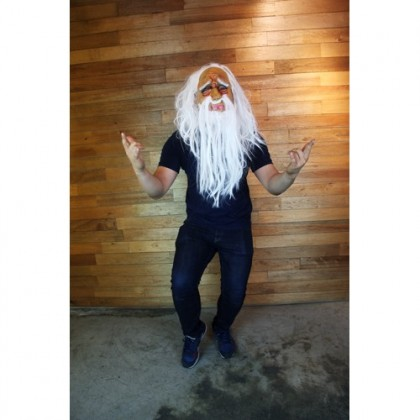 Halloween Party Old Man White Hair Mask
