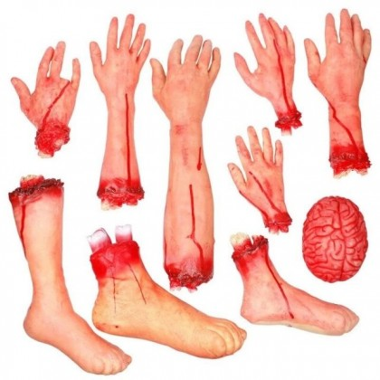 Halloween Horror Bloody Cut Off Fake Rubber Hand (L)